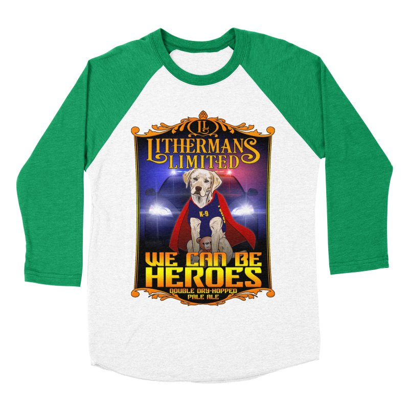 We Can Be Heroes Men's Baseball Triblend Longsleeve T-Shirt by Lithermans Limited Print Shop