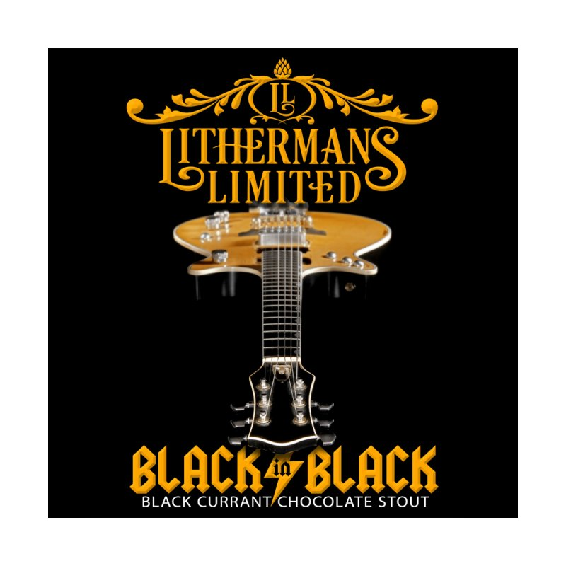 Black In Black Men's Zip-Up Hoody by Lithermans Limited Print Shop