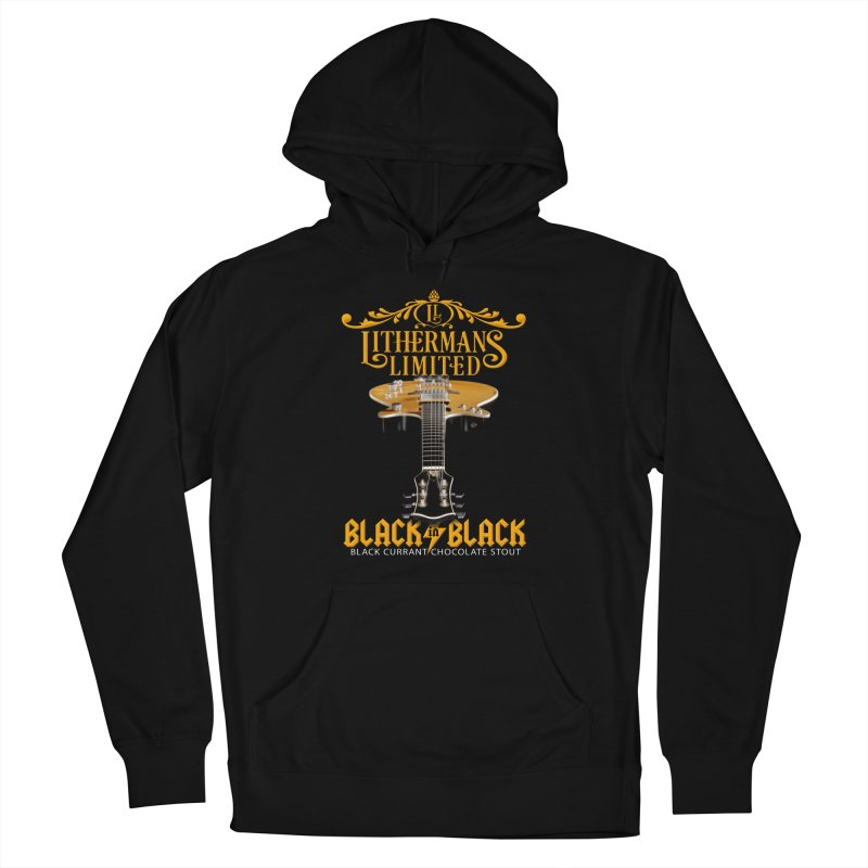 Black In Black Men's Pullover Hoody by Lithermans Limited Print Shop