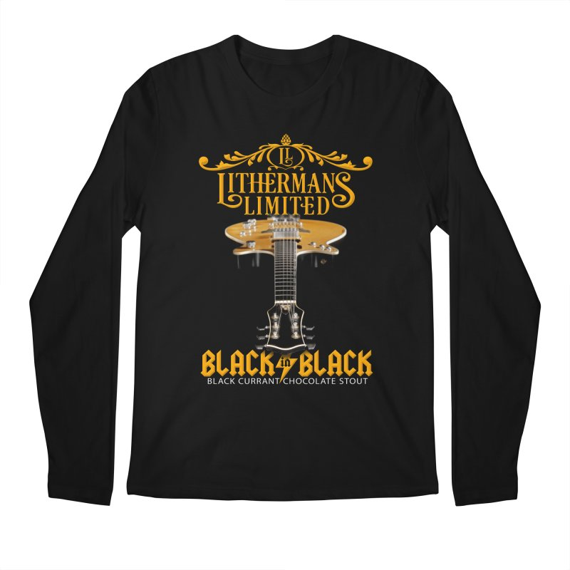 Black In Black Men's Regular Longsleeve T-Shirt by Lithermans Limited Print Shop