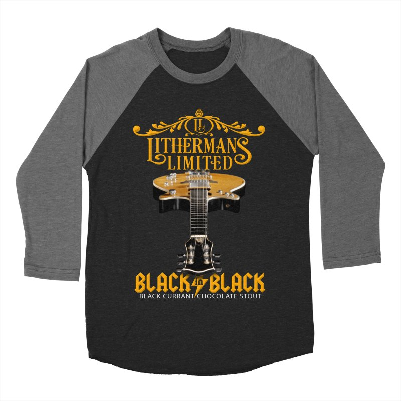 Black In Black Women's Baseball Triblend Longsleeve T-Shirt by Lithermans Limited Print Shop