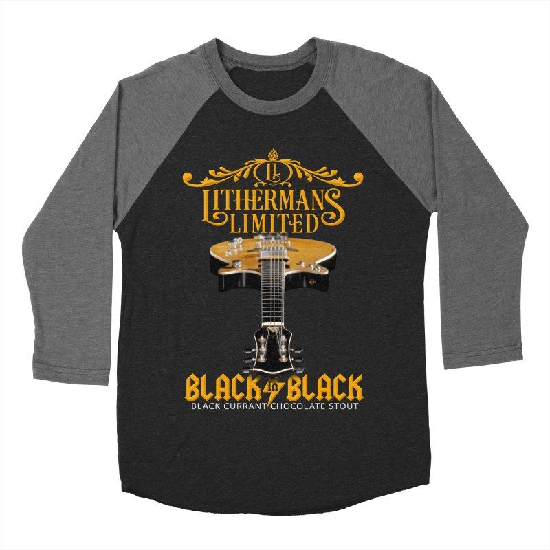 Black In Black Men's Baseball Triblend Longsleeve T-Shirt by Lithermans Limited Print Shop
