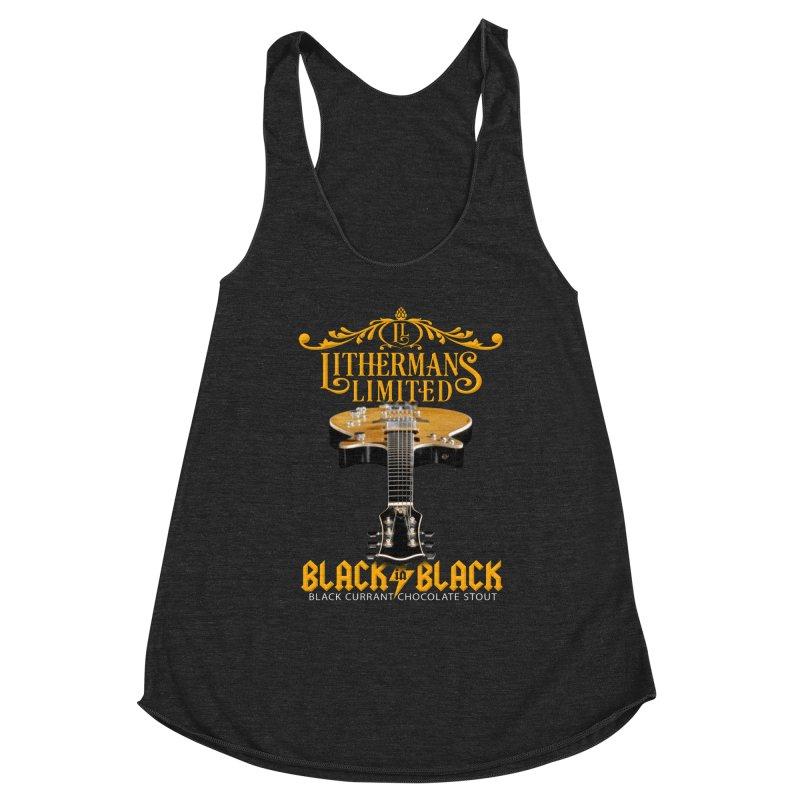 Black In Black Women's Racerback Triblend Tank by Lithermans Limited Print Shop