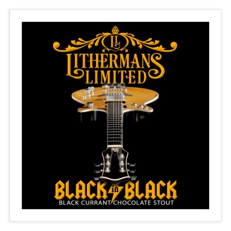 Black In Black Home Fine Art Print by Lithermans Limited Print Shop