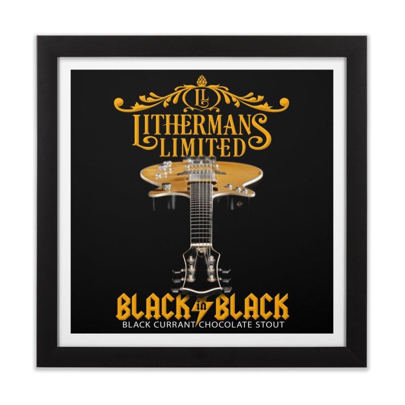 Black In Black Home Framed Fine Art Print by Lithermans Limited Print Shop