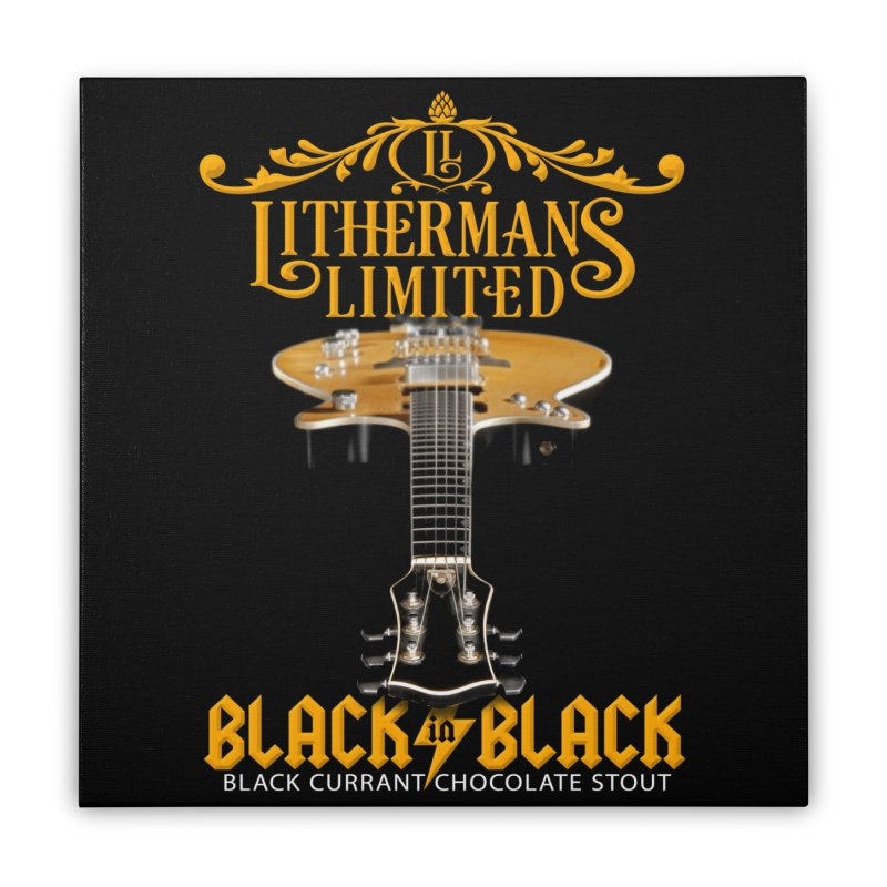 Black In Black Home Stretched Canvas by Lithermans Limited Print Shop