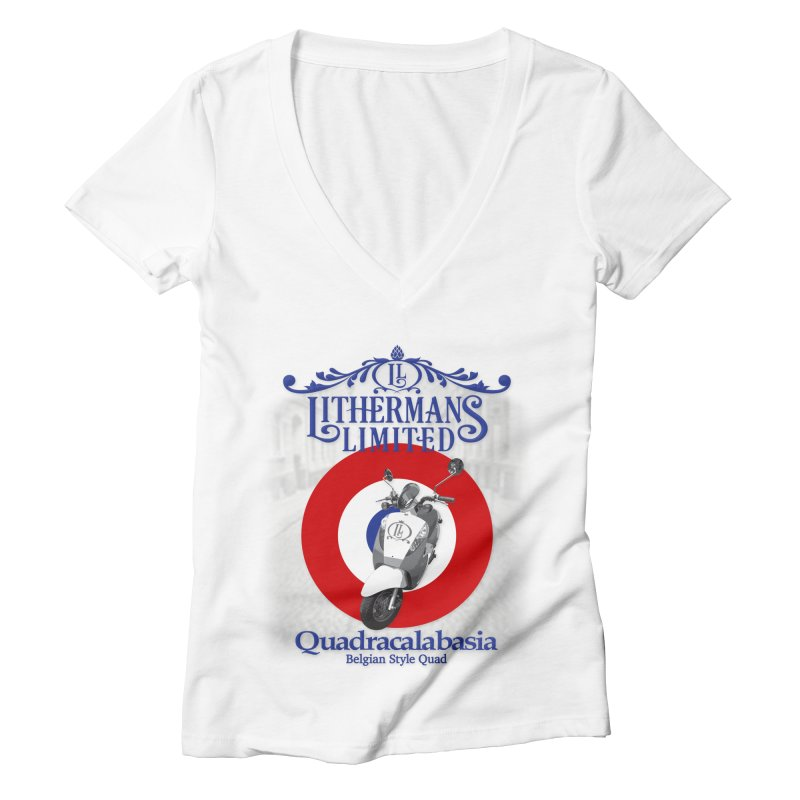 Quadracalabasia Women's Deep V-Neck V-Neck by Lithermans Limited Print Shop