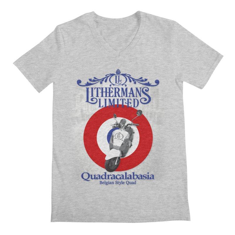 Quadracalabasia Men's Regular V-Neck by Lithermans Limited Print Shop