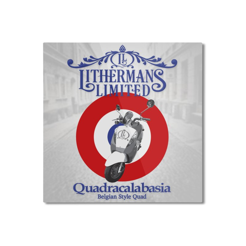 Quadracalabasia Home Mounted Aluminum Print by Lithermans Limited Print Shop