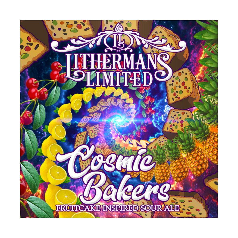 Cosmic Bakers Home Framed Fine Art Print by Lithermans Limited Print Shop