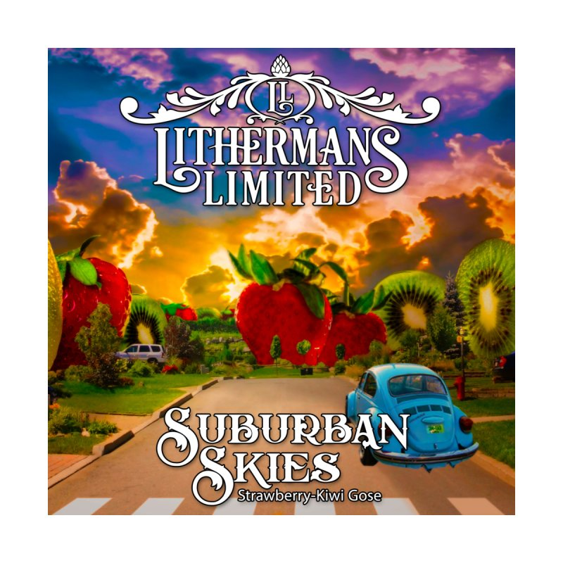 Suburban Skies Home Stretched Canvas by Lithermans Limited Print Shop