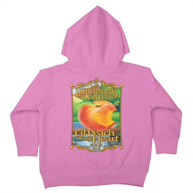 Lil' Peach of my Heart Kids Toddler Zip-Up Hoody by Lithermans Limited Print Shop