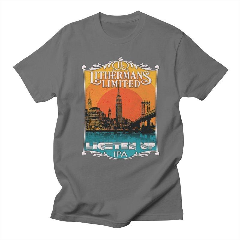 Lighten Up Men's T-Shirt by Lithermans Limited Print Shop