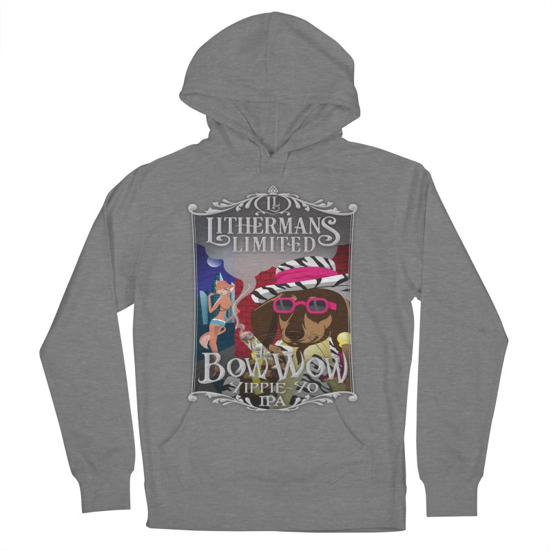 Bow Wow Yippie Yo Women's French Terry Pullover Hoody by Lithermans Limited Print Shop