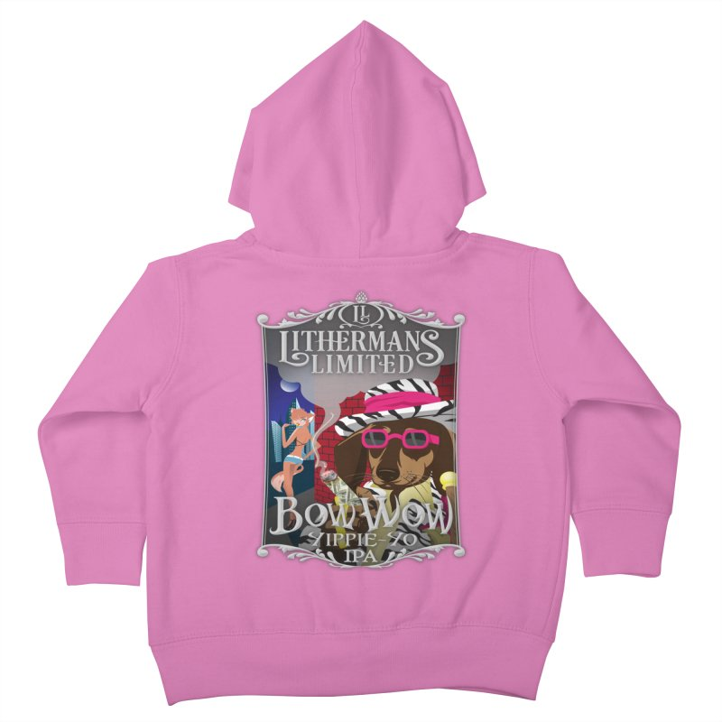 Bow Wow Yippie Yo Kids Toddler Zip-Up Hoody by Lithermans Limited Print Shop