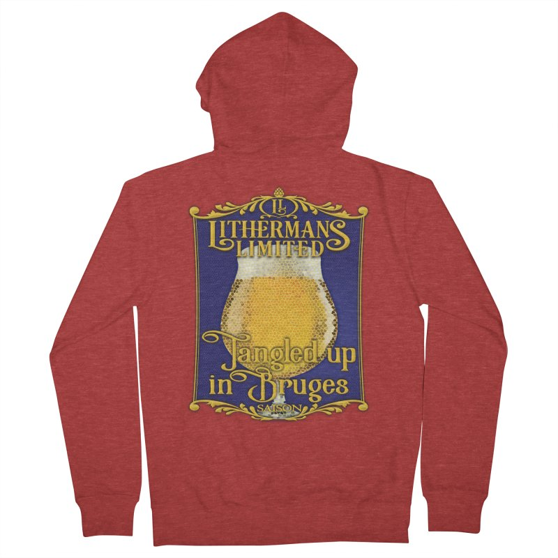 Tangled Up In Bruges Women's French Terry Zip-Up Hoody by Lithermans Limited Print Shop