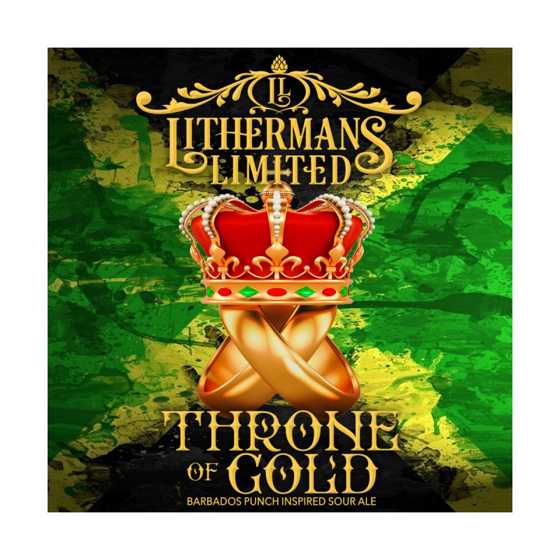 Throne of Gold Men's Zip-Up Hoody by Lithermans Limited Print Shop