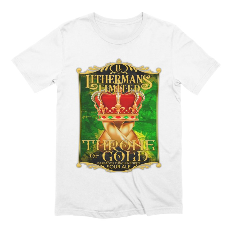 Throne of Gold Men's Extra Soft T-Shirt by Lithermans Limited Print Shop