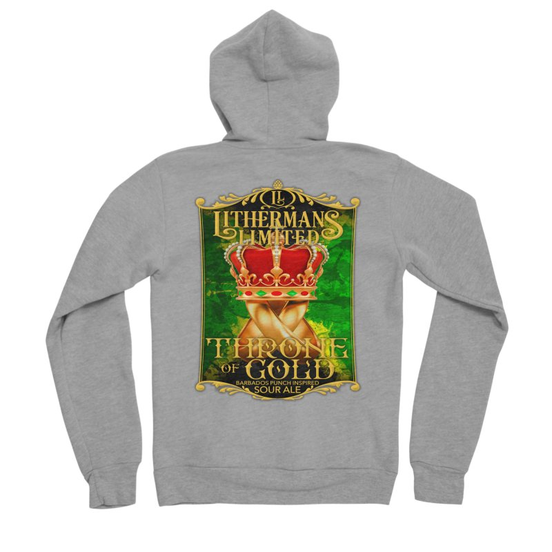 Throne of Gold Men's Sponge Fleece Zip-Up Hoody by Lithermans Limited Print Shop