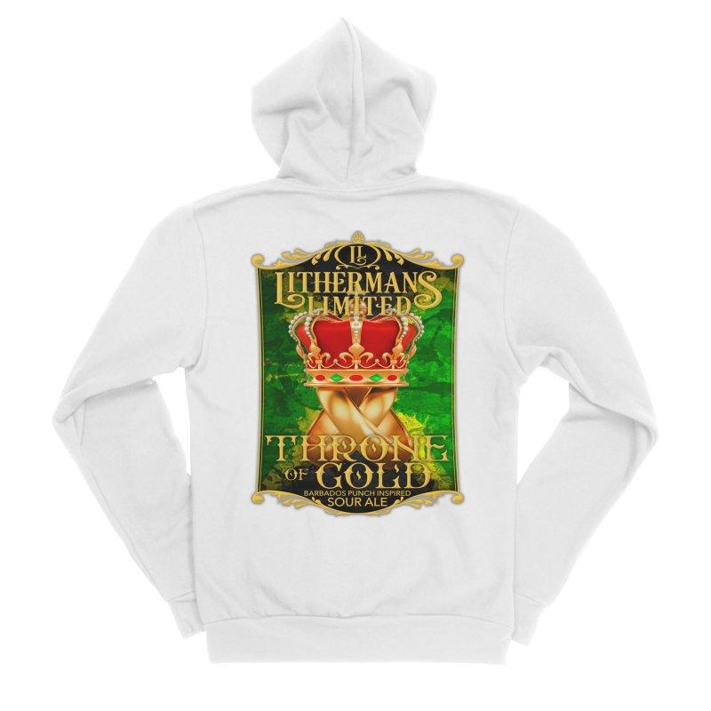Throne of Gold Men's Sponge Fleece Zip-Up Hoody by Lithermans Limited Print Shop