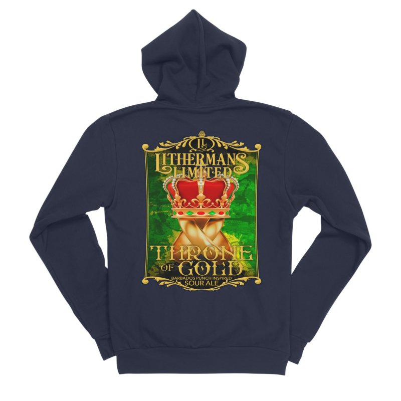 Throne of Gold Women's Sponge Fleece Zip-Up Hoody by Lithermans Limited Print Shop