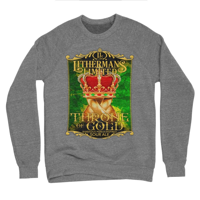 Throne of Gold Men's Sponge Fleece Sweatshirt by Lithermans Limited Print Shop