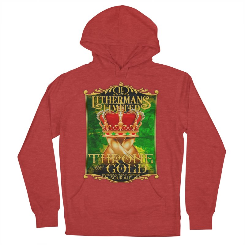 Throne of Gold Men's French Terry Pullover Hoody by Lithermans Limited Print Shop