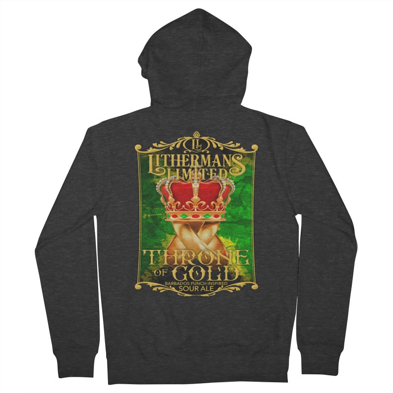 Throne of Gold Women's French Terry Zip-Up Hoody by Lithermans Limited Print Shop