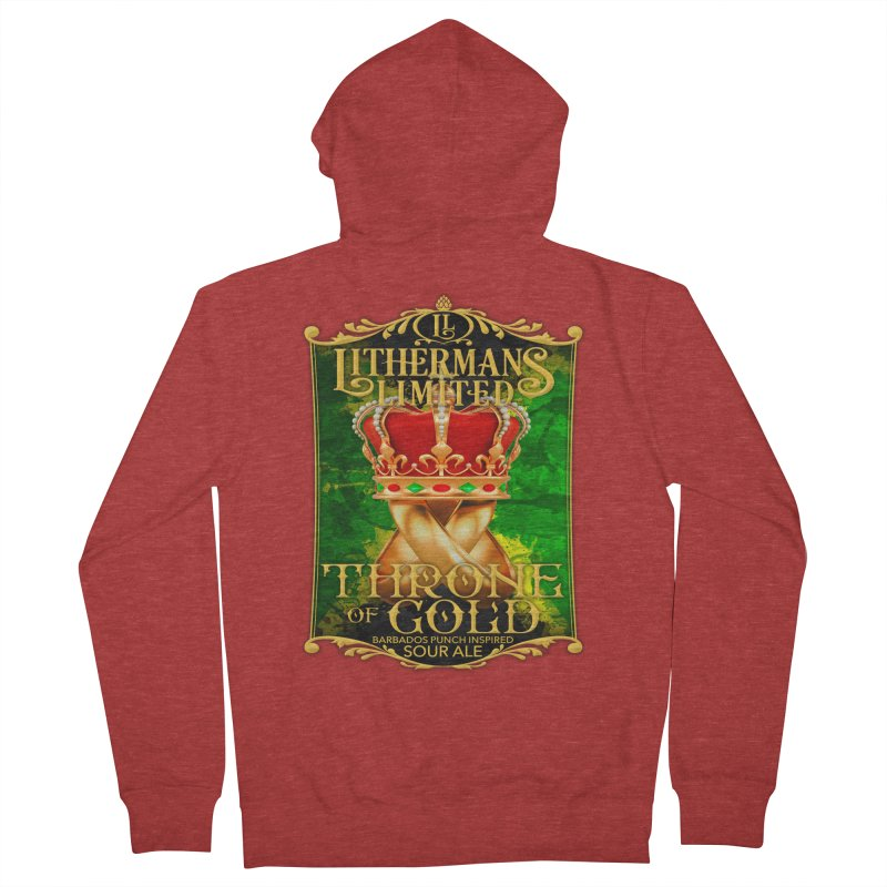 Throne of Gold Men's French Terry Zip-Up Hoody by Lithermans Limited Print Shop