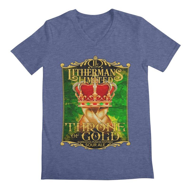 Throne of Gold Men's Regular V-Neck by Lithermans Limited Print Shop
