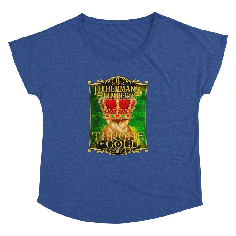 Throne of Gold Women's Dolman Scoop Neck by Lithermans Limited Print Shop
