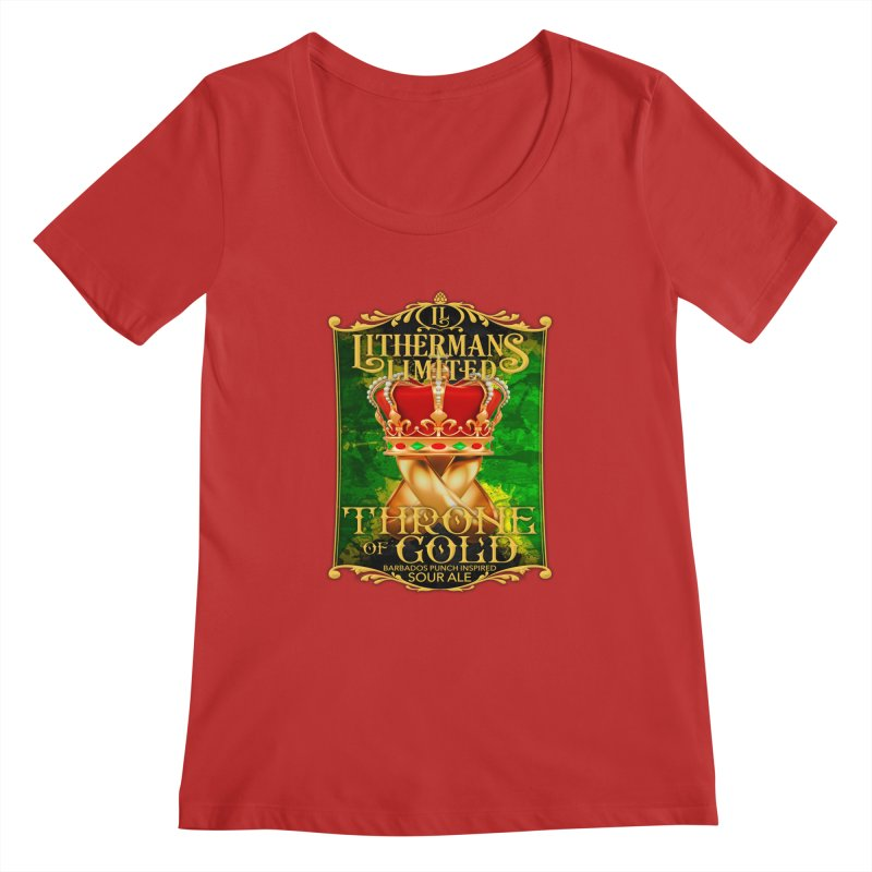 Throne of Gold Women's Regular Scoop Neck by Lithermans Limited Print Shop