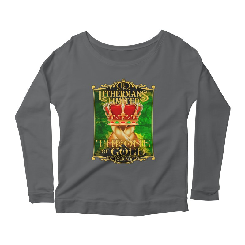 Throne of Gold Women's Scoop Neck Longsleeve T-Shirt by Lithermans Limited Print Shop
