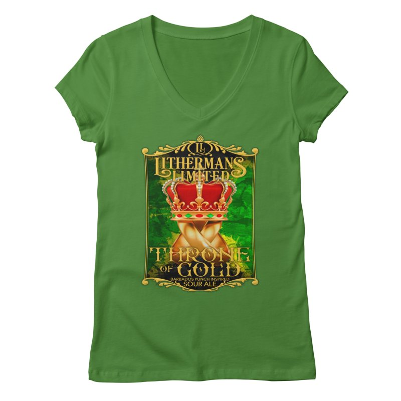 Throne of Gold Women's Regular V-Neck by Lithermans Limited Print Shop