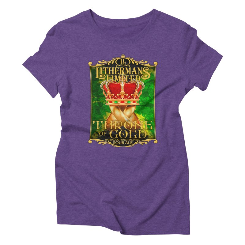 Throne of Gold Women's Triblend T-Shirt by Lithermans Limited Print Shop