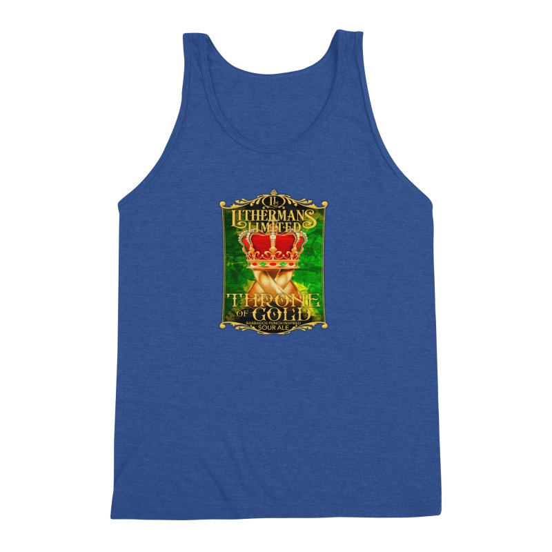Throne of Gold Men's Triblend Tank by Lithermans Limited Print Shop
