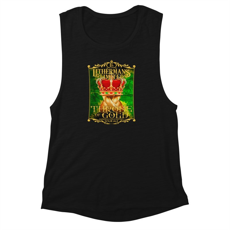 Throne of Gold Women's Muscle Tank by Lithermans Limited Print Shop