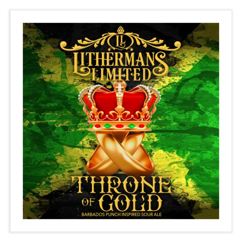 Throne of Gold Home Fine Art Print by Lithermans Limited Print Shop