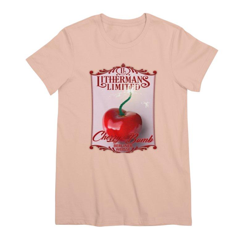 Cherry Bomb Women's Premium T-Shirt by Lithermans Limited Print Shop