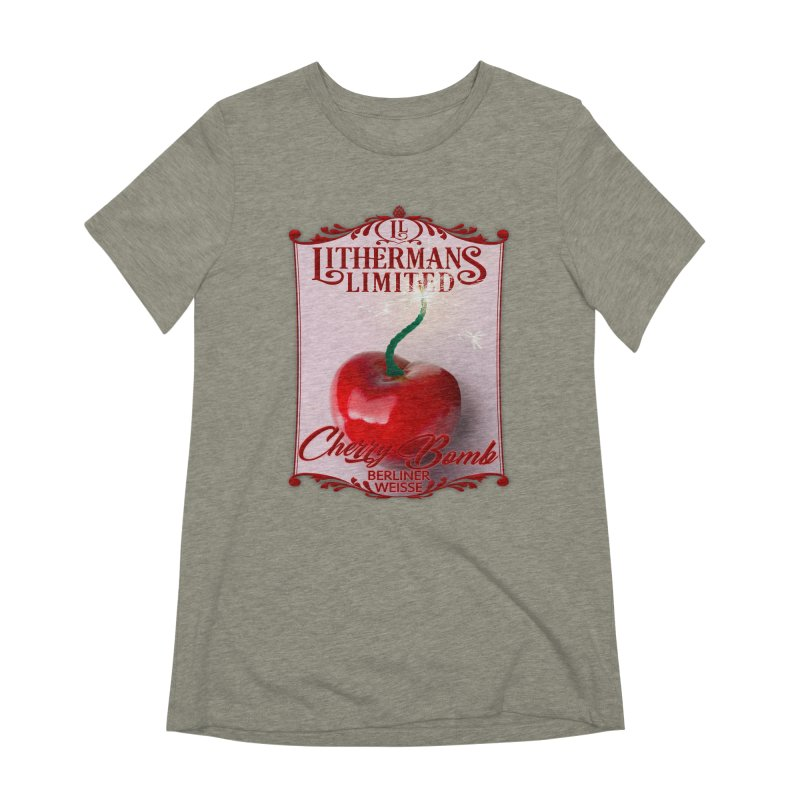 Cherry Bomb Women's Extra Soft T-Shirt by Lithermans Limited Print Shop