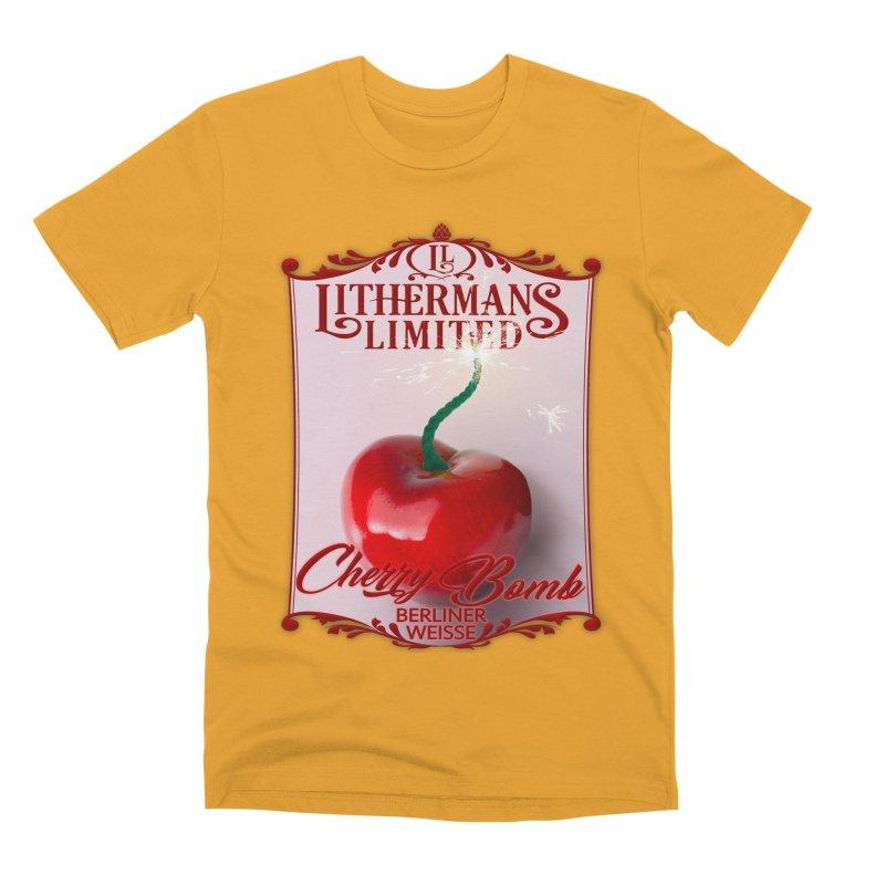 Cherry Bomb Men's Premium T-Shirt by Lithermans Limited Print Shop