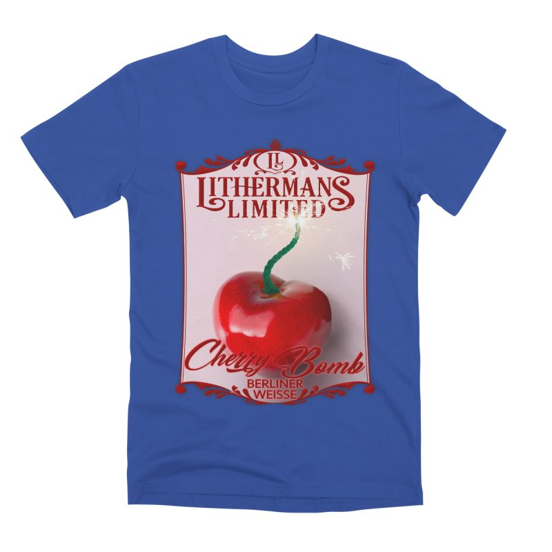 Cherry Bomb Men's Premium T-Shirt by Lithermans Limited Print Shop