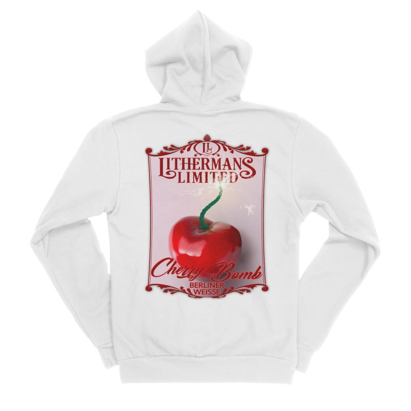 Cherry Bomb Men's Sponge Fleece Zip-Up Hoody by Lithermans Limited Print Shop