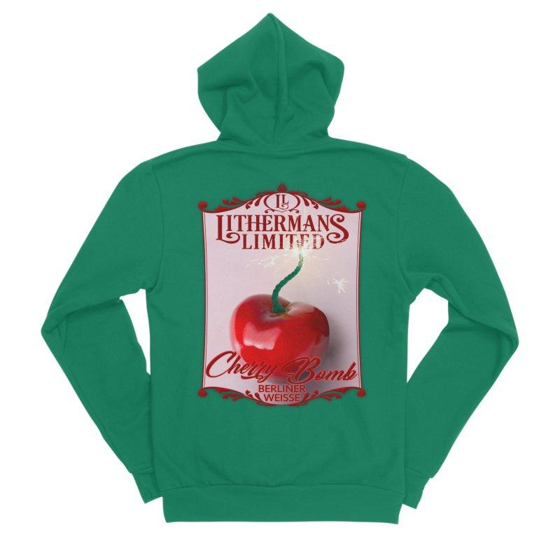 Cherry Bomb Women's Sponge Fleece Zip-Up Hoody by Lithermans Limited Print Shop