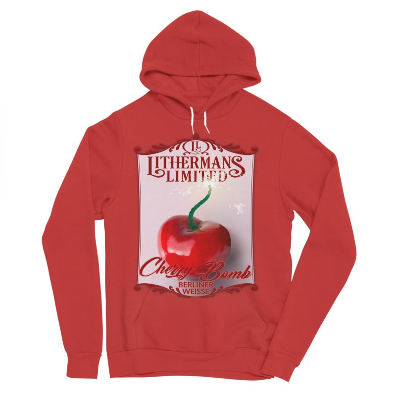 Cherry Bomb Women's Sponge Fleece Pullover Hoody by Lithermans Limited Print Shop