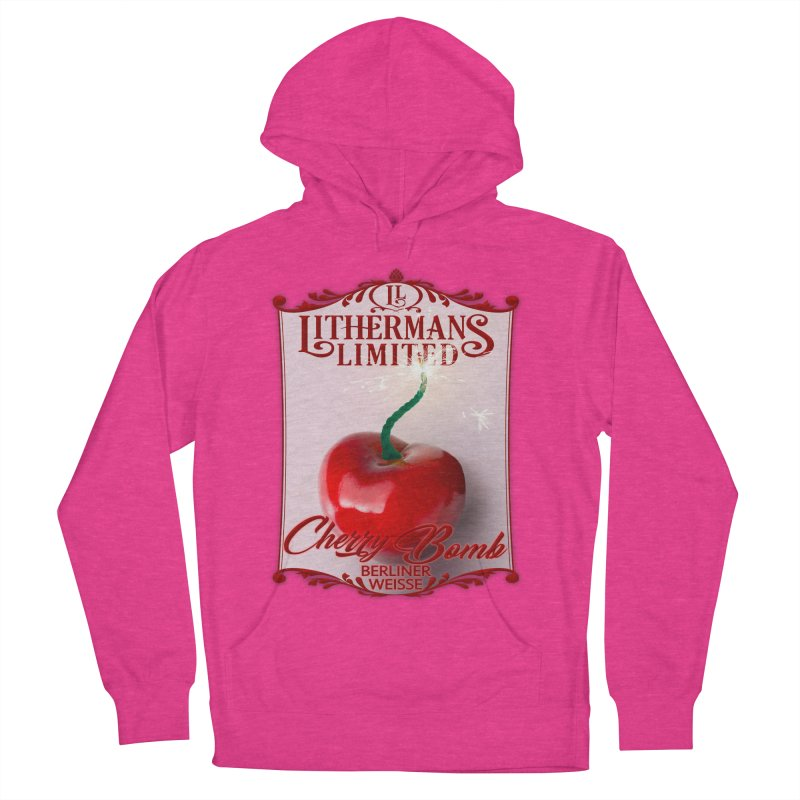 Cherry Bomb Women's French Terry Pullover Hoody by Lithermans Limited Print Shop
