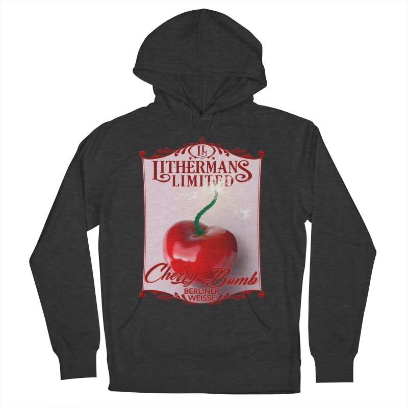 Cherry Bomb Men's French Terry Pullover Hoody by Lithermans Limited Print Shop