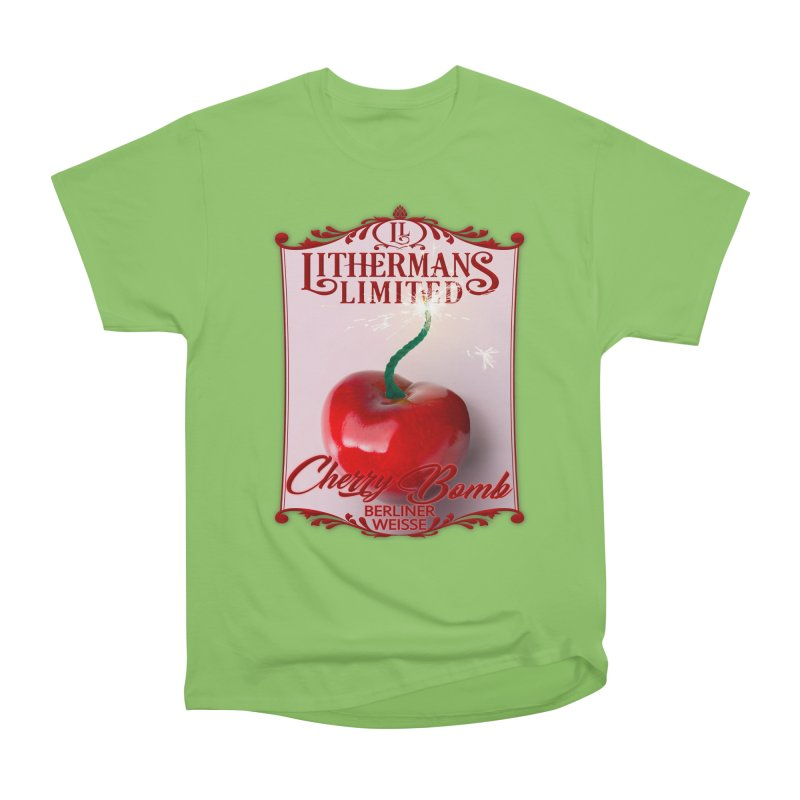 Cherry Bomb Men's Heavyweight T-Shirt by Lithermans Limited Print Shop