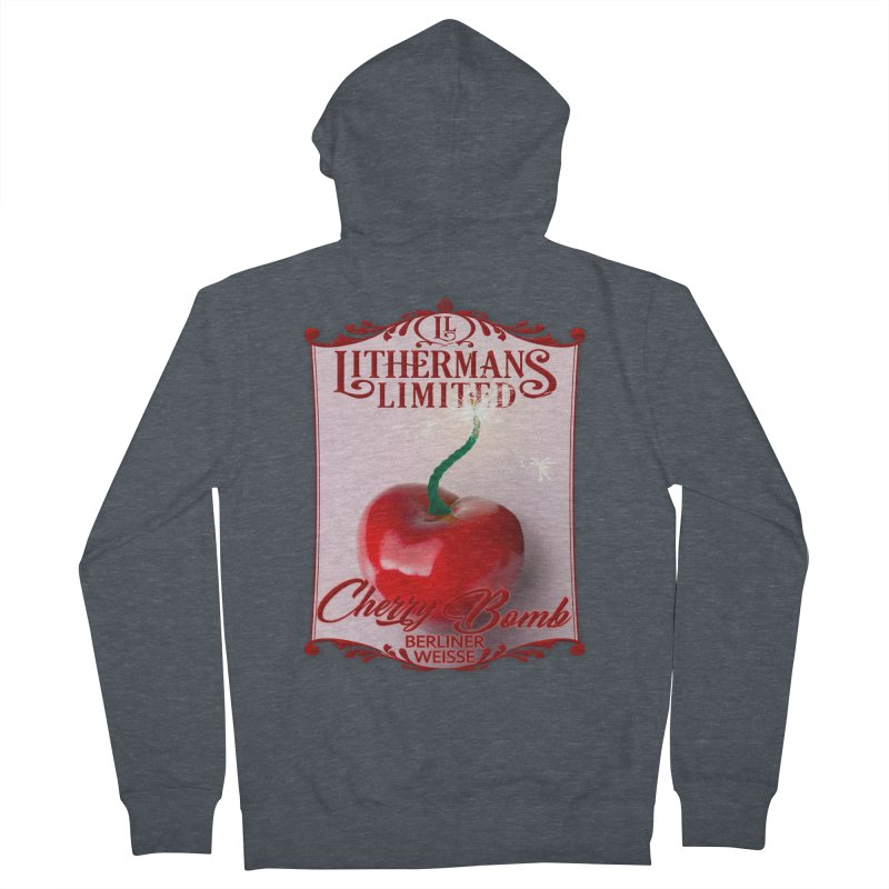 Cherry Bomb Men's French Terry Zip-Up Hoody by Lithermans Limited Print Shop