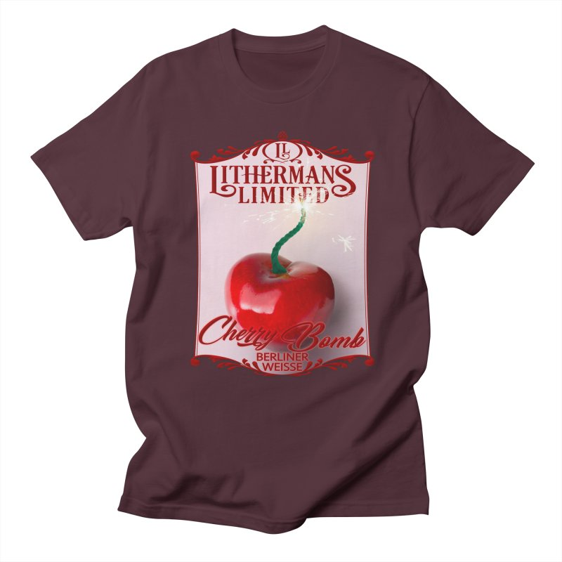 Cherry Bomb Men's Regular T-Shirt by Lithermans Limited Print Shop